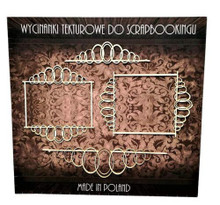 Filigranki Laser Cut Decorative Chipboards for Handicraft- Frames and Lines
