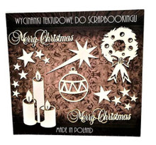 Filigranki Laser Cut Decorative Chipboards for Handicraft- Christmas