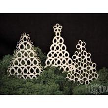 Filigranki Laser Cut Decorative Chipboards for Handicraft- Lace Christmas Trees