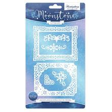 Hunkydory Moonstone Snowflakes & Swirls Festive Frames - Cutting Dies MSTONE043
