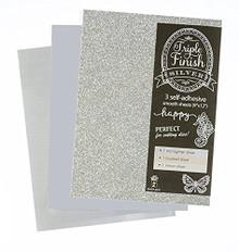 HOTP Triple Finish Silver- 3 Self-Adhesive Sheets 4439