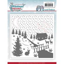 Yvonne Creations Christmas Dreams Embossing Folder
