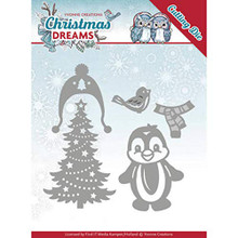 SPECIAL PURCHASE FREE Publication with Purchase -- Yvonne Creations Christmas Dreams Christmas Penguin Die Set
