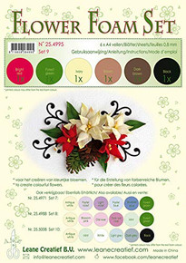 Leane Creatief Flower Foam Set -6 A4 Sheets- Set 9