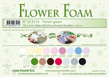 Leane Creatief Flower Foam Set -10 A4 Sheets- Forest Green
