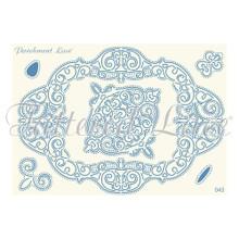 Parchment Lace Celeste Parchement Grid