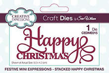 Sue Wilson Craft Dies CEDME015 Mini Expressions - Happy Christmas
