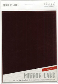 Tonic Studios 9453E Mirror Glossy Cardstock 8.5'X11' 5/pkg Ruby, Red