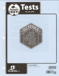 Science 4 Test Key  4th Edition