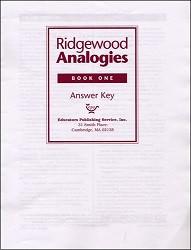 Ridgewood Analogies Book 1 Key