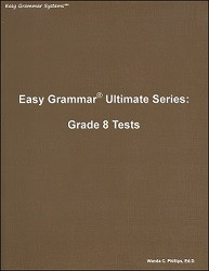 Easy Grammar Ultimate Series Grade  8 Tests