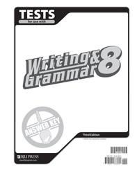 Writing and Grammar 8 Test Answer Key (3rd Ed.)