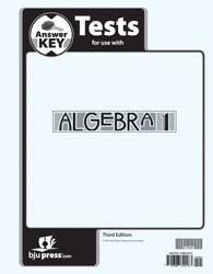 Algebra 1 Test Answer Key (3rd Ed.)