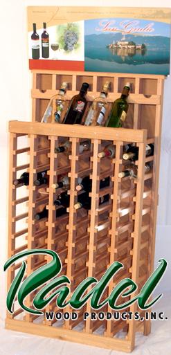 Pine 72-Bottle Display
