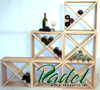 24-Bottle Cube Rack (Pine)
