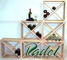 24-Bottle Cube Rack (Pine)