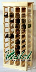 44-Bottle Wine Rack (Pine) (RWP018)