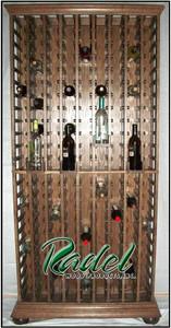 Solid Oak 207-Bottle Wall Unit Wine Rack