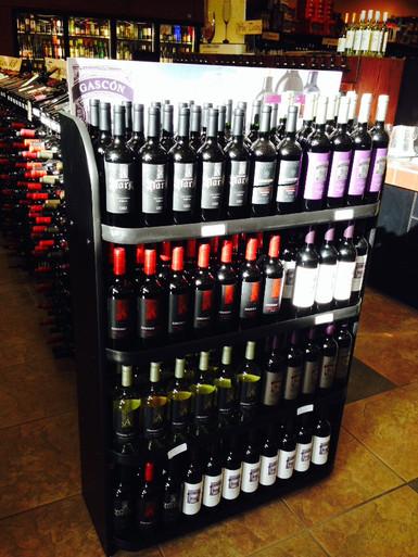 176-Bottle 4-Shelf Display