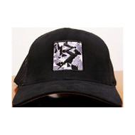 Black Camo Patch Flexfit Trucker Hat