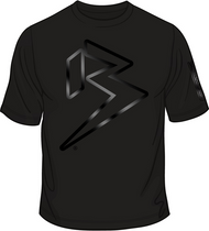 BALLZ RACING NEON Black on Black PREMIUM TEE SKU # 0113-01