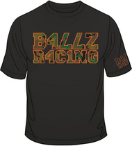 B477Z R4C1NG Camo with Orange T-shirt SKU # 0117-0107