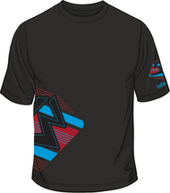13 B-BOX Black/Cyan/Red T-shirt SKU # 0134-1886