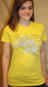 MOTO LIFE Vibrant Yellow Womans Tee SKU # 0126-1001