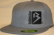 B Box Dark Gray & Black 210 Fitted Flat Bill SKU # 0208-1501