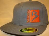 B Box Dark Gray & Orange 210 Fitted Flat Bill SKU # 0208-1507