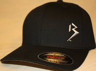 Original B emblem Black with Silver B curve bill Flexfit hat SKU # 0281-0118