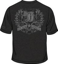 FALCON PREMIUM T-Shirt Vintage Black/Dark Grey Sku # 0152-0109