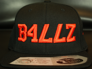 B477Z Black & Blood Orange SNAPBACK SKU # 0258-0122