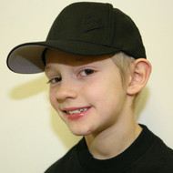 Youth Black Curve Bill with Black Outline B Hat SKU # 0211-0101