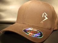Original B emblem Brown with Tan B curve bill Flexfit hat SKU # 0281-08