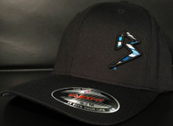BLITZ Hat Black/Cyan/White on all Black Curved Bill Sku # 0251C-018802