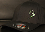 BLITZ Hat Black/Neon Green/White on all Black Curved Bill Sku # 0251C-011202