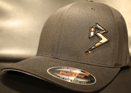 BLITZ Hat Black/Orange/White on all Black Curved Bill Sku # 0251C-010702