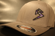 BLITZ Hat Black/Purple/Charcoal on Dark Grey Curved Bill Sku # 0251C-152515