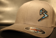 BLITZ Hat Black/Cyan/Charcoal on Dark Grey Curved Bill Sku # 0251C-158815