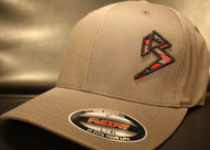 BLITZ Hat Black/Red/Charcoal on Dark Grey Curved Bill Sku # 0251C-150615