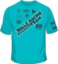 BALLZ RACING TEAM T-Shirt Aqua/Black/White SKU # 0154-7702