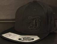 BR logo Black/Black on all Black 110 SNAPBACK Hat Sku # 0286S-010101-OSFA