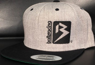 B BOX HEATHER GREY/BLACK Classic SNAPBACK Hat Sku #  0208S-0901-OSFA