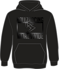 BALLZ RACING WORLDWIDE 100% Polyester Hoodie- BLACK/BLACK