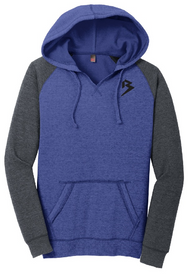 MISS B HOODIE - HEATHER DEEP ROYAL/HEATHER CHARCOAL