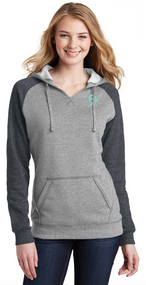 MISS B HOODIE - HEATHER GREY/HEATHER CHARCOAL