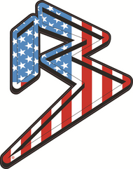 FREEDOM B LOGO STICKER RED/WHITE/BLUE SKU: 0318-6288