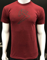 B BRAND TEE - HEATHER CRANBERRY - PREMIUM BLEND SKU: 0111-06