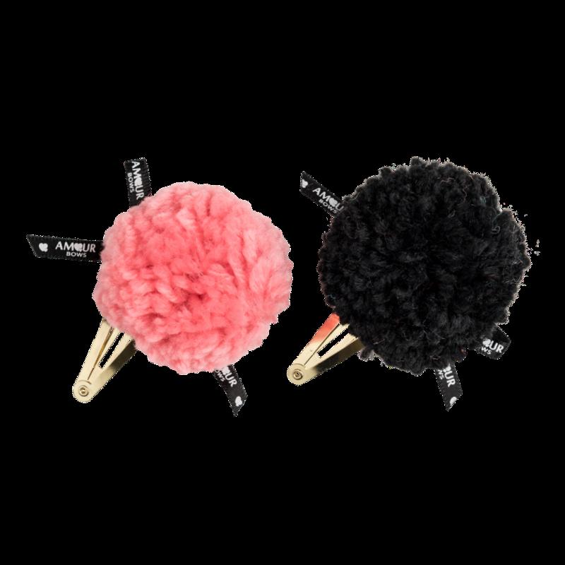 Pebbles Clip Black & Pink